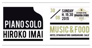 Concerto piano Hiroko Imai Hotel Spiaggia d'Oro